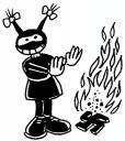 fifille fait du feu